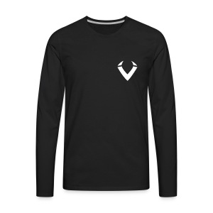 Vision V Logo - White V - Men's Premium Long Sleeve T-Shirt