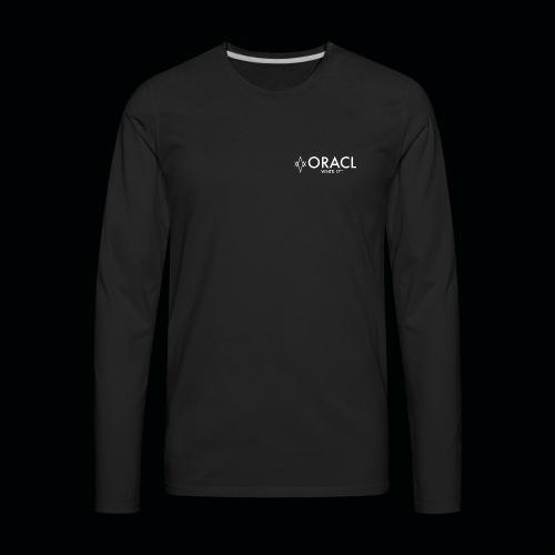 ORACL LOGO WHITE - Men's Premium Long Sleeve T-Shirt
