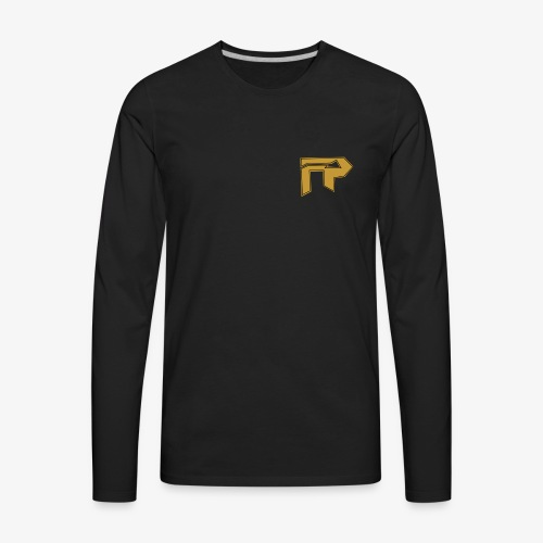 black/gold logo to side - Men's Premium Long Sleeve T-Shirt
