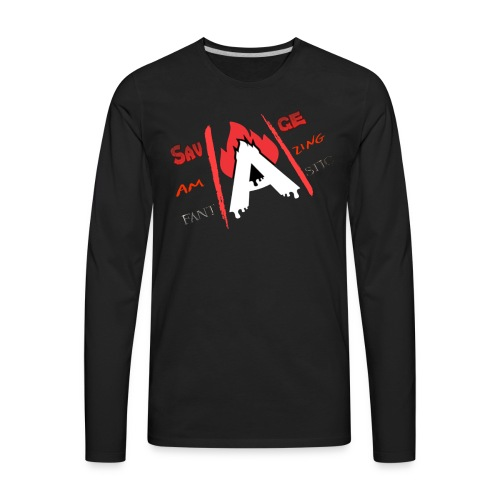 A-Game logo - Men's Premium Long Sleeve T-Shirt