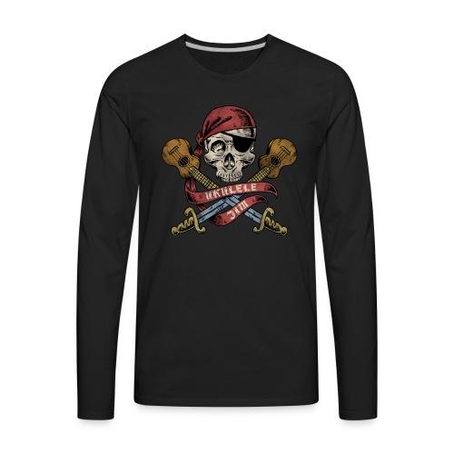 Ukulele Jim Pirate - Men's Premium Long Sleeve T-Shirt