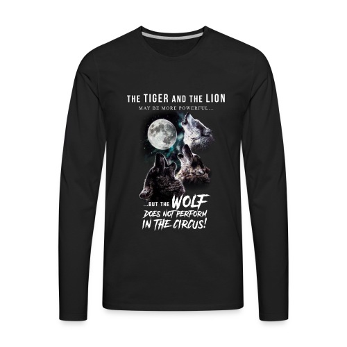 Wolves and Moon - Men's Premium Long Sleeve T-Shirt