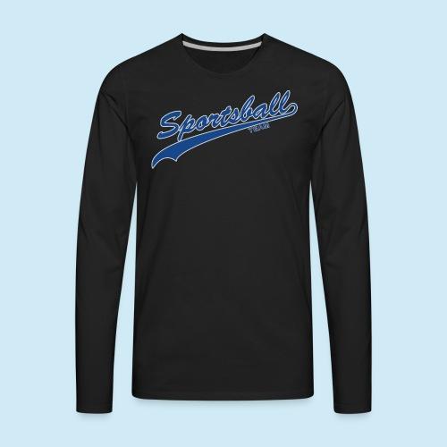 Sportsball (Blue & Silver) - Men's Premium Long Sleeve T-Shirt