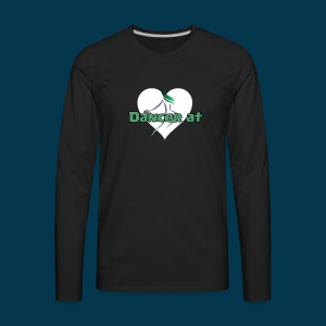 Dancer At Heart (White Heart) - Men's Premium Long Sleeve T-Shirt