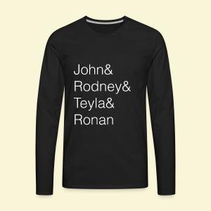 Stargate Atlantis Ampersand Names - Men's Premium Long Sleeve T-Shirt