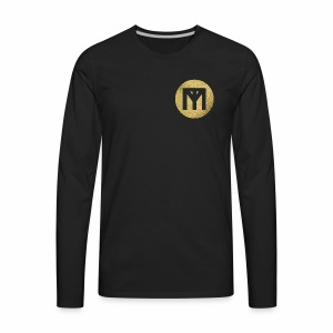 Trend Monster Gold Circle LOGO - Men's Premium Long Sleeve T-Shirt