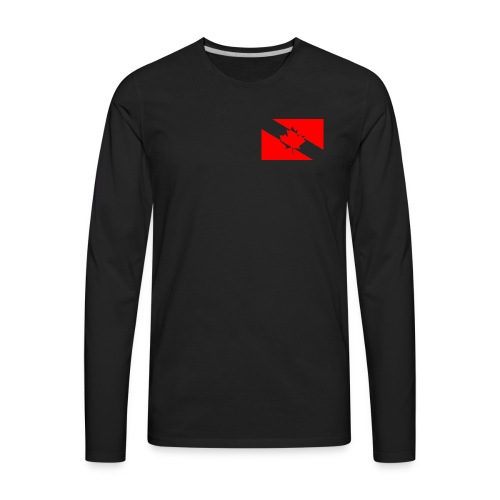 Clear White Dive Canada v. Small - Men's Premium Long Sleeve T-Shirt