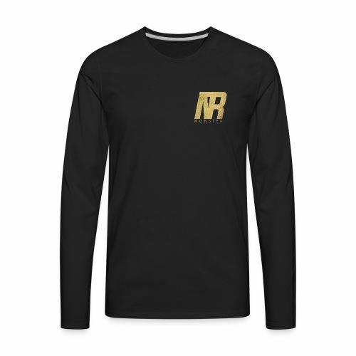 Trend Monster Gold Foil Premium LOGO - Men's Premium Long Sleeve T-Shirt