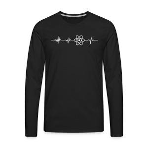 Heart beat - javascript - Men's Premium Long Sleeve T-Shirt