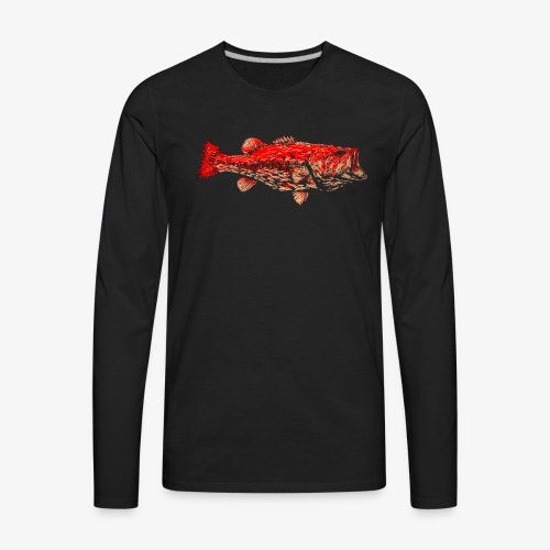 FIRE BASS - Men's Premium Long Sleeve T-Shirt