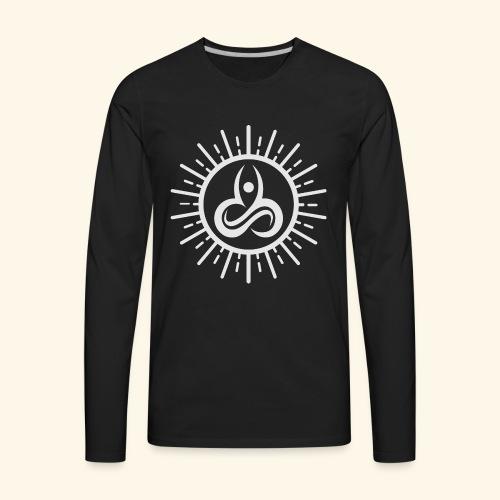Yoga T-Shirts - Yoga Mind Body Soul - Men's Premium Long Sleeve T-Shirt