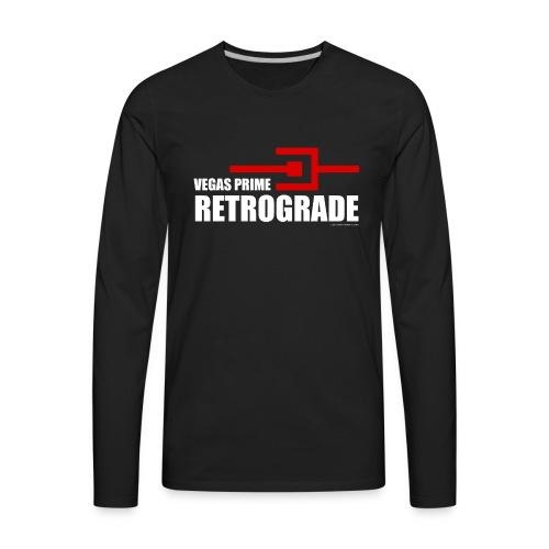 Vegas Prime Retrograde - Title and Hack Symbol - Men's Premium Long Sleeve T-Shirt