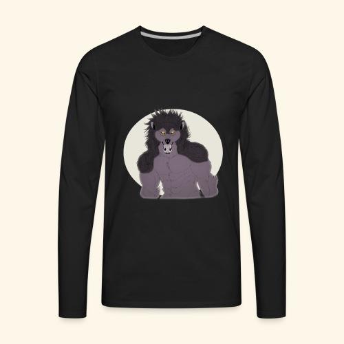 Werewolf TSHIRT Design - Men's Premium Long Sleeve T-Shirt