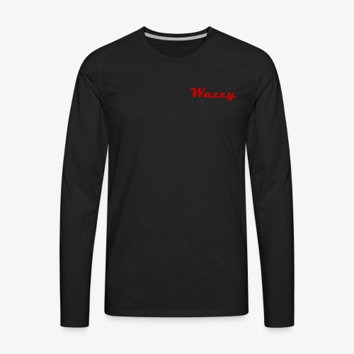 Wazzy Black and Red - Men's Premium Long Sleeve T-Shirt