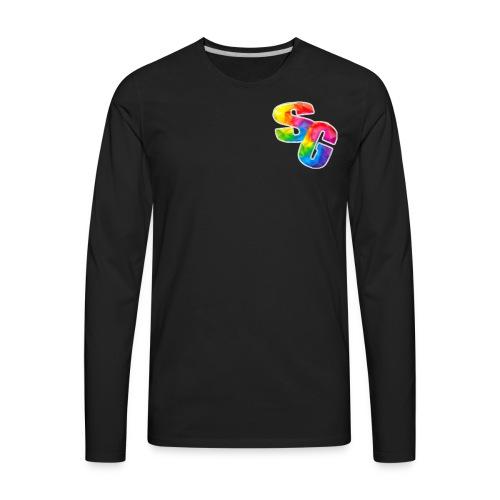 ShortyGamez Rainbow LOGO - Men's Premium Long Sleeve T-Shirt