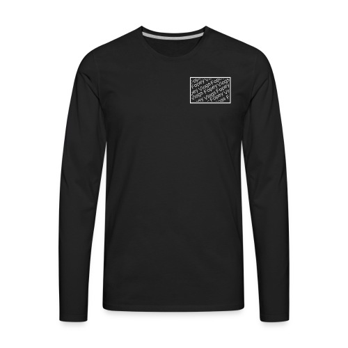 This is a Fopey Vlogs constant text logo - Men's Premium Long Sleeve T-Shirt