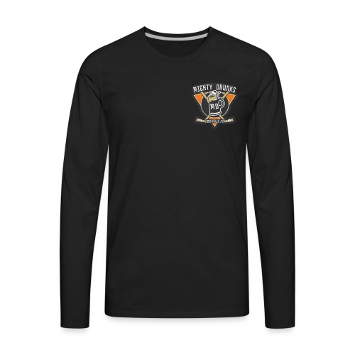 Drunks Logo - Men's Premium Long Sleeve T-Shirt