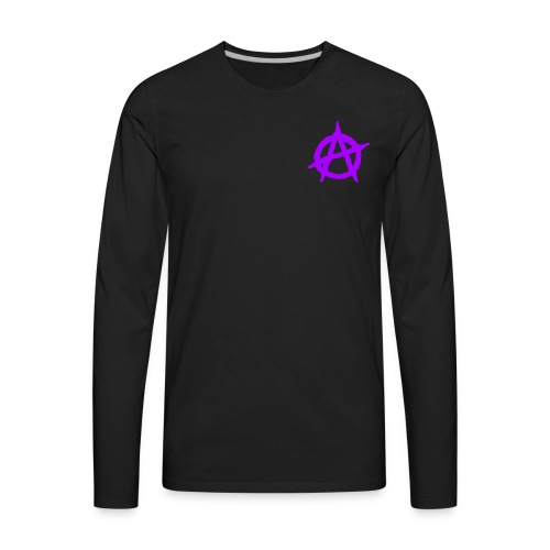 ANVRCHY purple - Men's Premium Long Sleeve T-Shirt