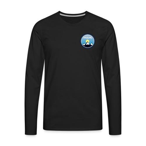 Parallel Mountain Range Badge - Men's Premium Long Sleeve T-Shirt