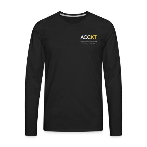 ACCKT - White Logo - Men's Premium Long Sleeve T-Shirt