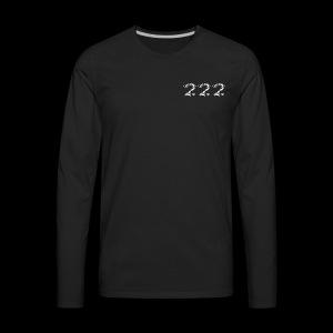 222 Chalk Style Pocket Logo - Men's Premium Long Sleeve T-Shirt