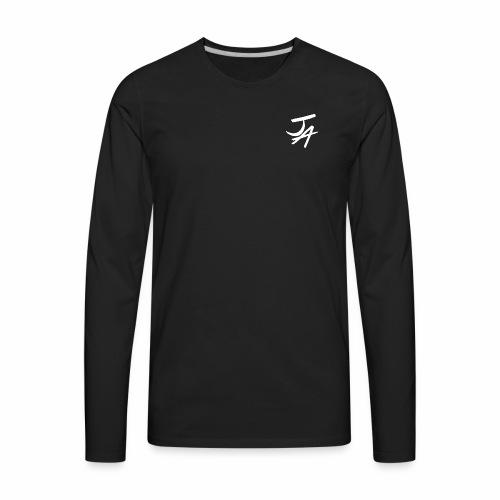 Jake Amodio White Logo - Men's Premium Long Sleeve T-Shirt