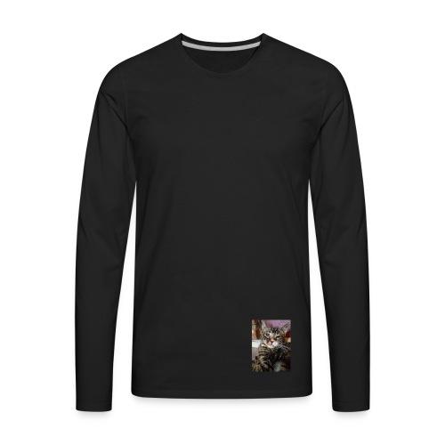 Eli the fat brown tabby - Men's Premium Long Sleeve T-Shirt