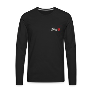 tshirt white vector - Men's Premium Long Sleeve T-Shirt