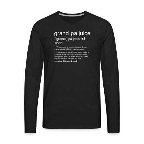Grandpa Juice - Men's Premium Long Sleeve T-Shirt