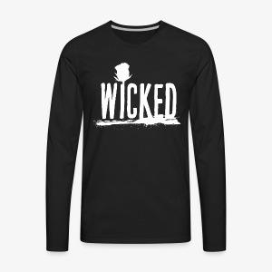 Wicked Rose (White) - Men's Premium Long Sleeve T-Shirt