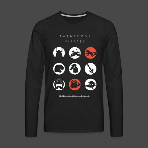 Twenty-Øne Pirates: UnfocusedFace Official Logo - Men's Premium Long Sleeve T-Shirt
