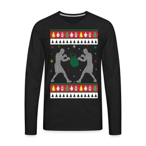 Boxing Ugly Christmas Sweater - Men's Premium Long Sleeve T-Shirt