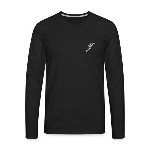 Jake Jones Signature on left chest - Men's Premium Long Sleeve T-Shirt
