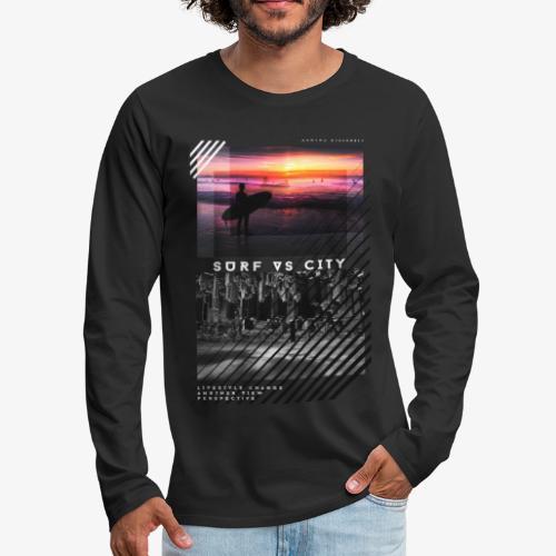 SURF VS CITY - Men's Premium Long Sleeve T-Shirt