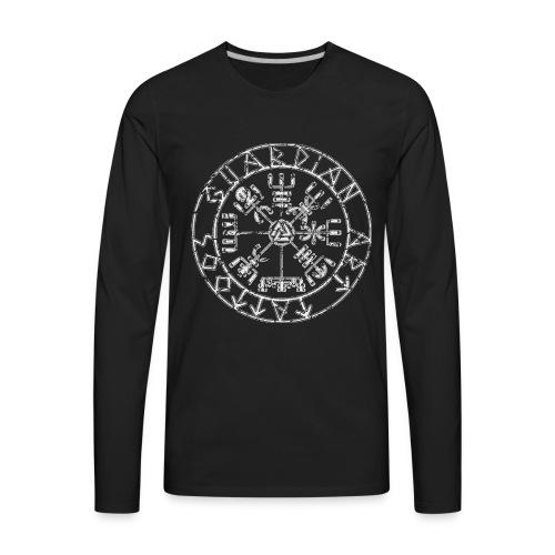 Guardian Art Tattoos Vegvisir Logo - Men's Premium Long Sleeve T-Shirt