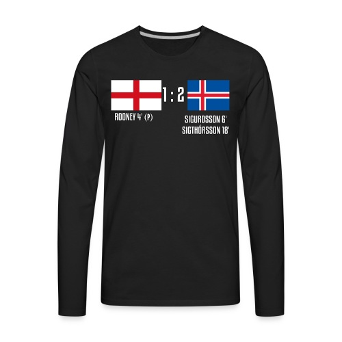 England 1-2 Iceland - Men's Premium Long Sleeve T-Shirt