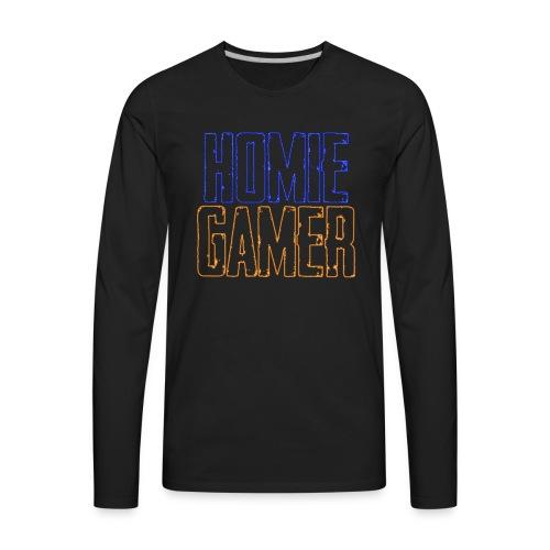 Homie Gamer Clothing (Neon Style) - Men's Premium Long Sleeve T-Shirt