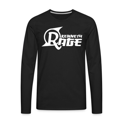 Basic White Kenneth Rage Impression - Men's Premium Long Sleeve T-Shirt