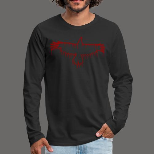 Bloody Crow Logo Solo - Men's Premium Long Sleeve T-Shirt