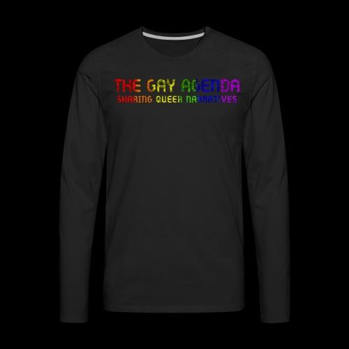 The Gay Agenda - Rainbow Paint Logo - Men's Premium Long Sleeve T-Shirt