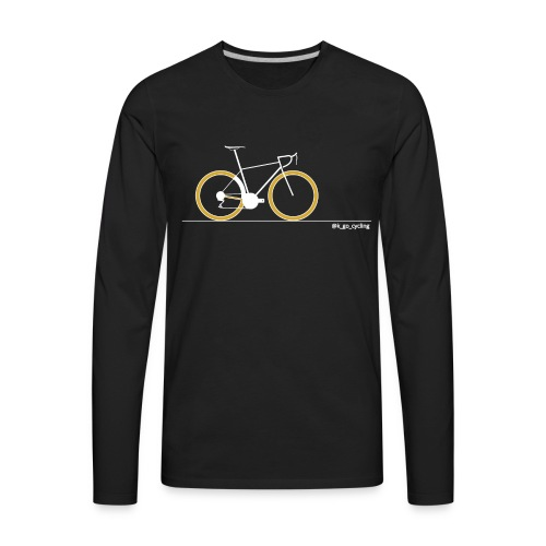 Go Cycling (wht) - Men's Premium Long Sleeve T-Shirt