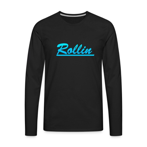 Rollin Logo Blue - Men's Premium Long Sleeve T-Shirt