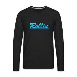 Rollin Logo Blue - Men's Premium Long Sleeve T-Shirt