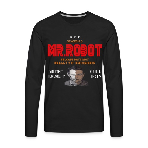 Mr ROBOT - Men's Premium Long Sleeve T-Shirt