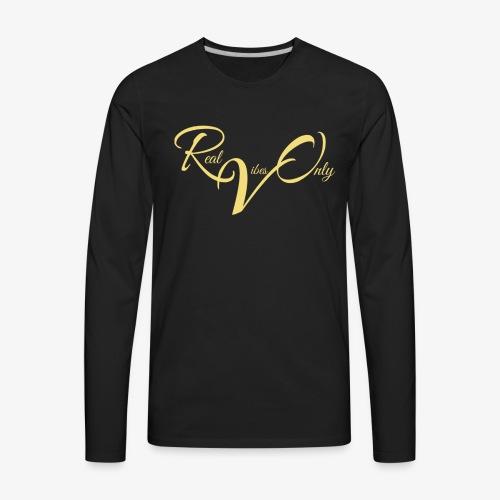 RealVibesOnly001 - Men's Premium Long Sleeve T-Shirt
