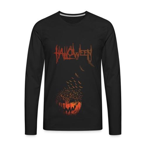 Halloween Jack O' Bats - Men's Premium Long Sleeve T-Shirt