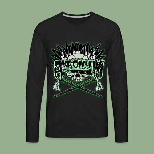Akronym Skull and Logo - Men's Premium Long Sleeve T-Shirt