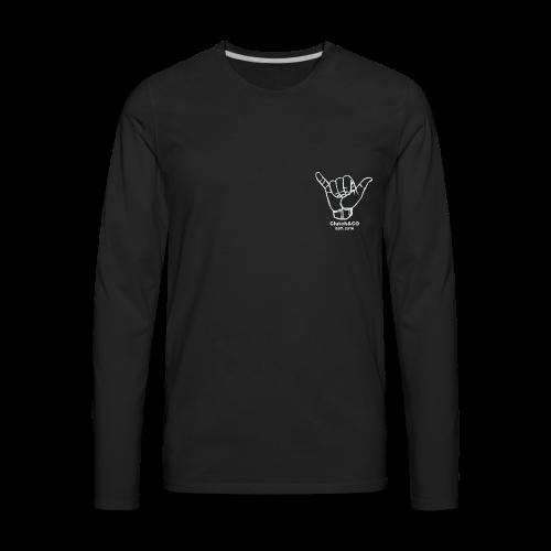 Grey Shaka for Black Clothing - Men's Premium Long Sleeve T-Shirt