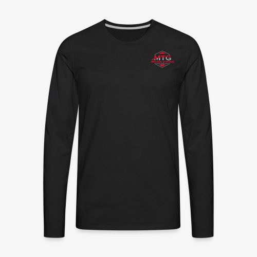 Red & Silver - Men's Premium Long Sleeve T-Shirt