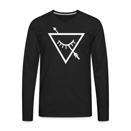Urban Roots Symbol White - Men's Premium Long Sleeve T-Shirt